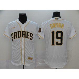 San Diego Padres Tony Gwynn White Gold Jersey